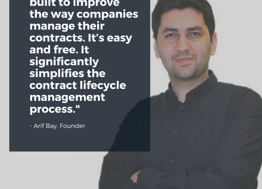 Image of eContractHub's founder, Arif Bay